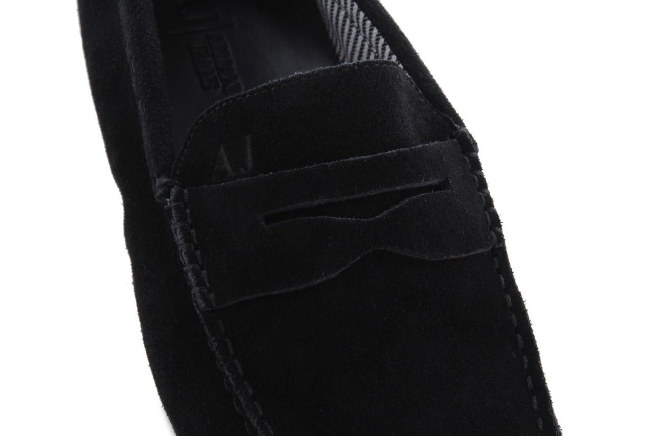 Mokasyny armani jeans 06588 55 black, czarny, skóra naturalna - armani jeans - nasze marki 12