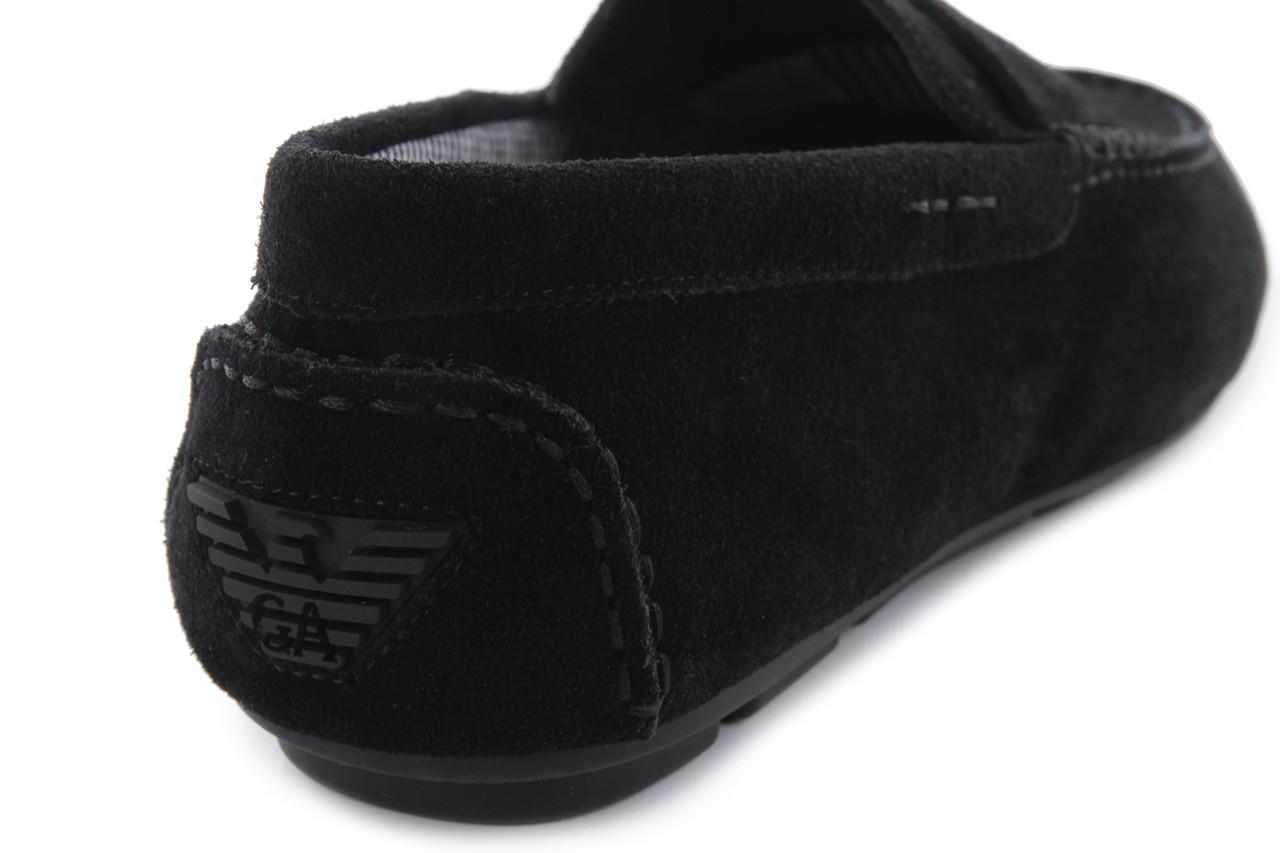 Mokasyny armani jeans 06588 55 black, czarny, skóra naturalna - armani jeans - nasze marki 13