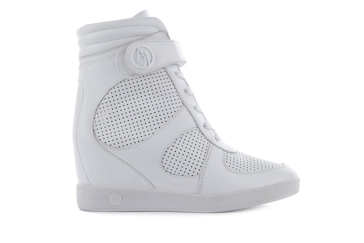 Sneakersy armani jeans a55c5 74 white, biały, skóra naturalna - armani jeans - nasze marki 9