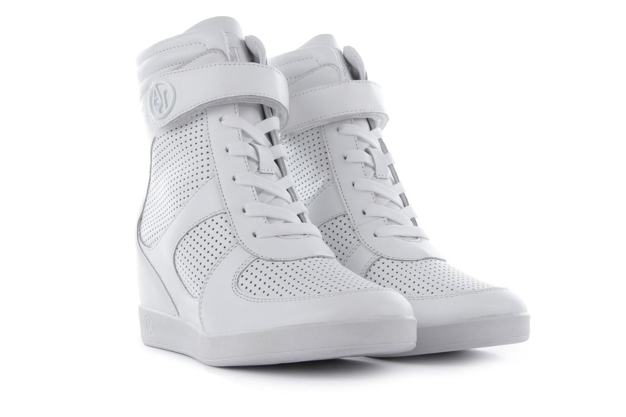 Sneakersy armani jeans a55c5 74 white, biały, skóra naturalna - armani jeans - nasze marki 8