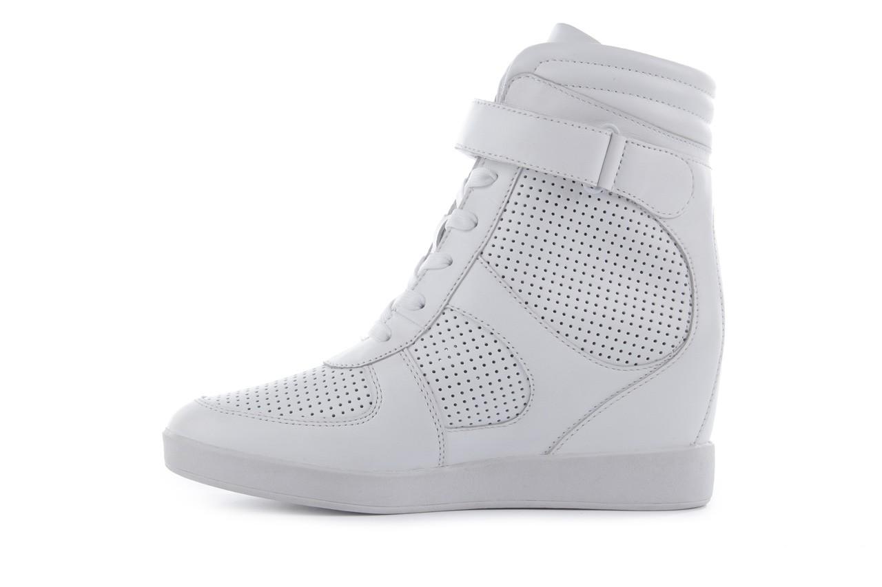 Sneakersy armani jeans a55c5 74 white, biały, skóra naturalna - armani jeans - nasze marki 10