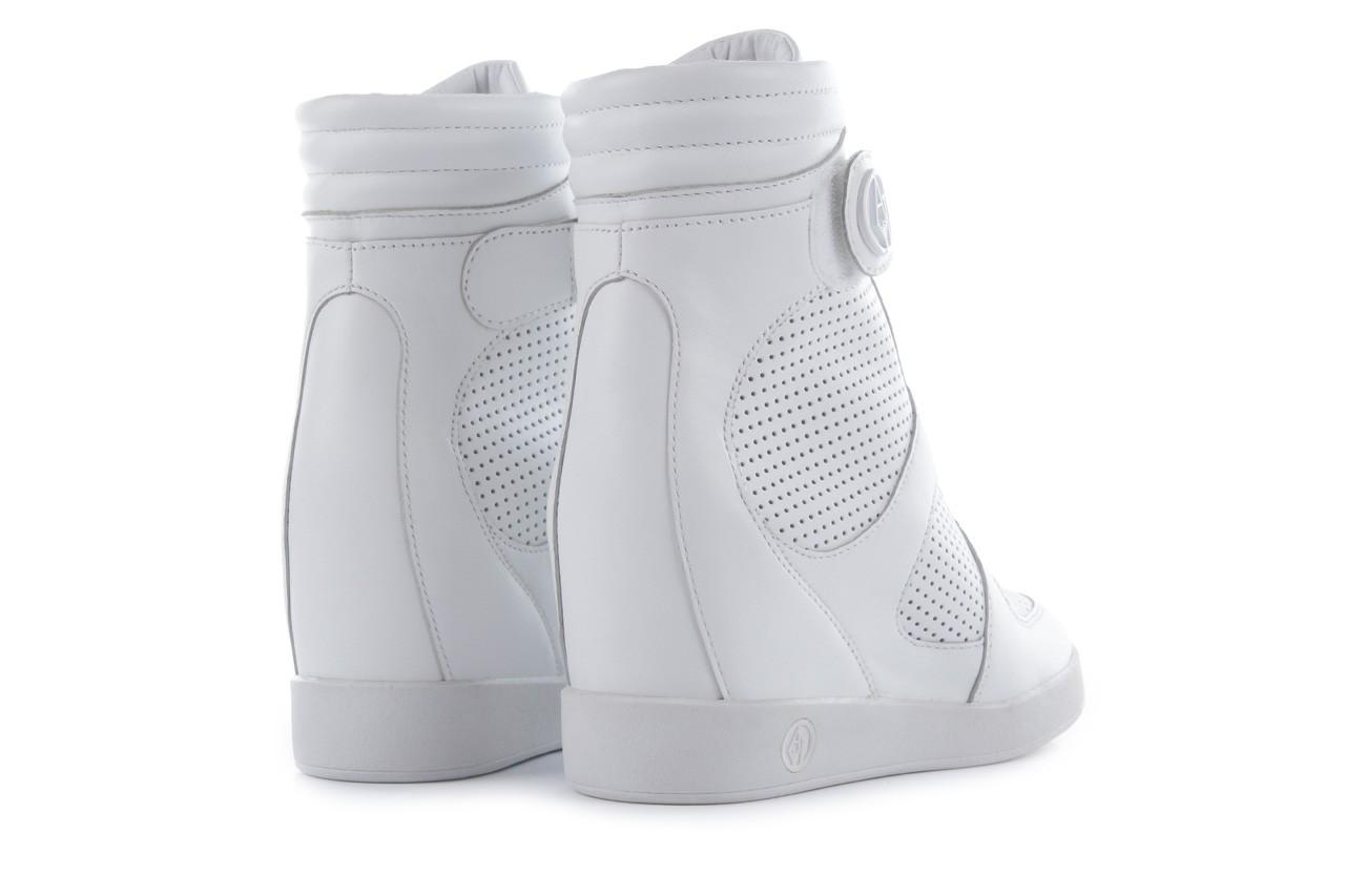 Sneakersy armani jeans a55c5 74 white, biały, skóra naturalna - armani jeans - nasze marki 11