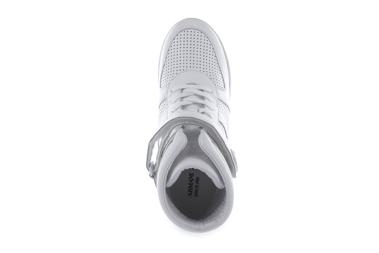 Sneakersy armani jeans a55c5 74 white, biały, skóra naturalna - armani jeans - nasze marki 12