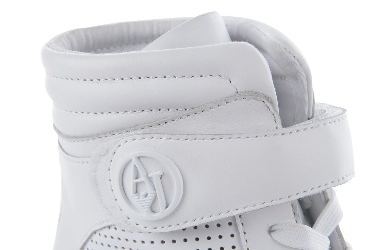 Sneakersy armani jeans a55c5 74 white, biały, skóra naturalna - armani jeans - nasze marki 13