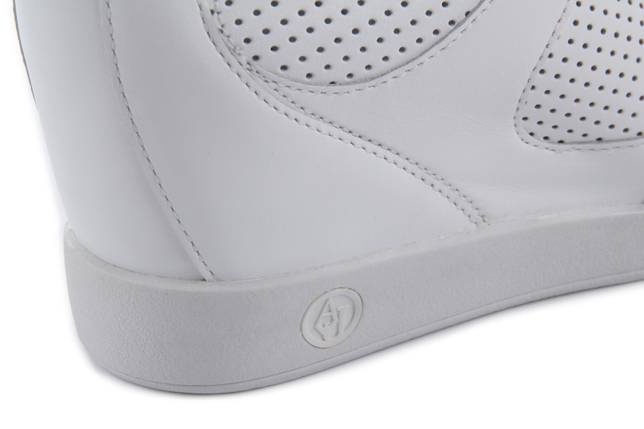 Sneakersy armani jeans a55c5 74 white, biały, skóra naturalna - armani jeans - nasze marki 15