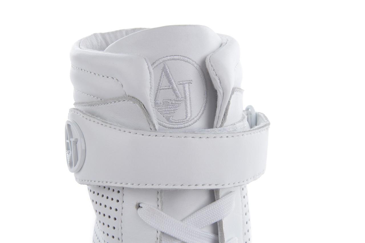 Sneakersy armani jeans a55c5 74 white, biały, skóra naturalna - armani jeans - nasze marki 14