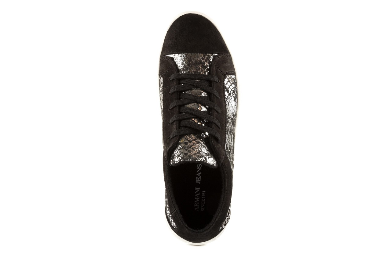 Trampki armani jeans b55g7 57 argento, szary/czarny, skóra naturalna - armani jeans - nasze marki 10