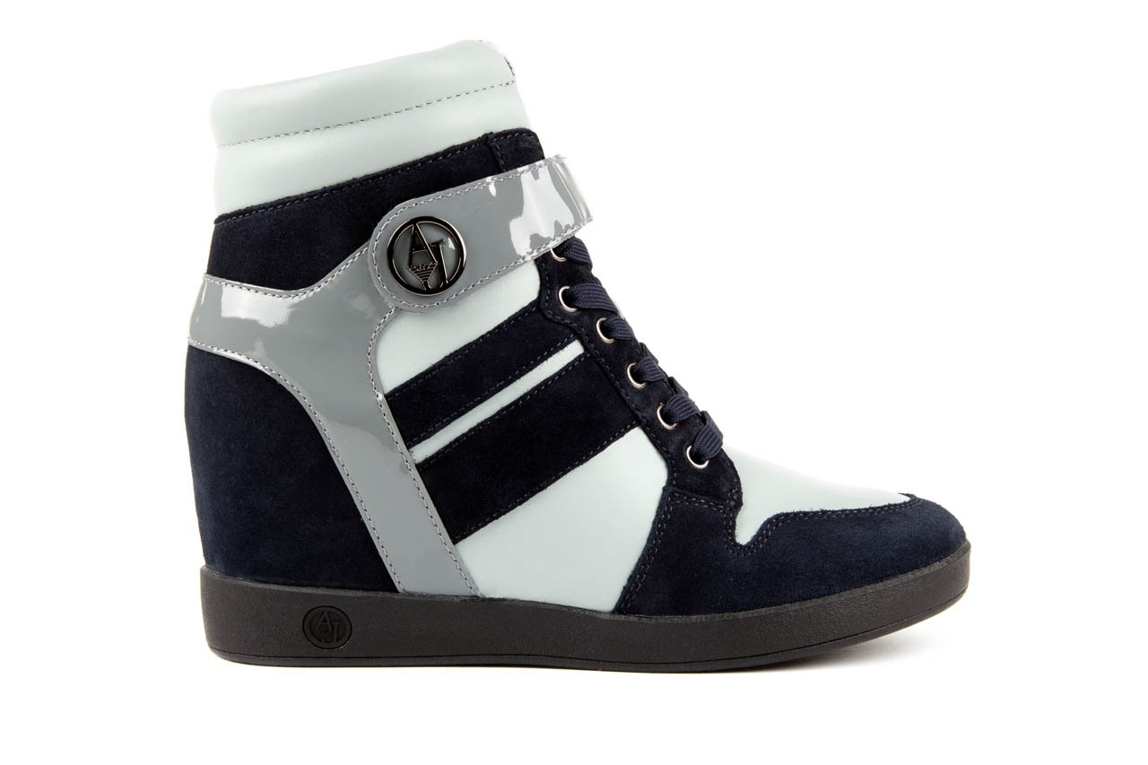 Sneakersy armani jeans b55m1 multicolor, wielokolorowe, skóra naturalna 6