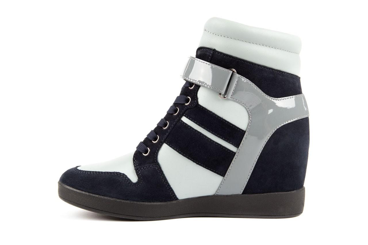 Sneakersy armani jeans b55m1 multicolor, wielokolorowe, skóra naturalna 8