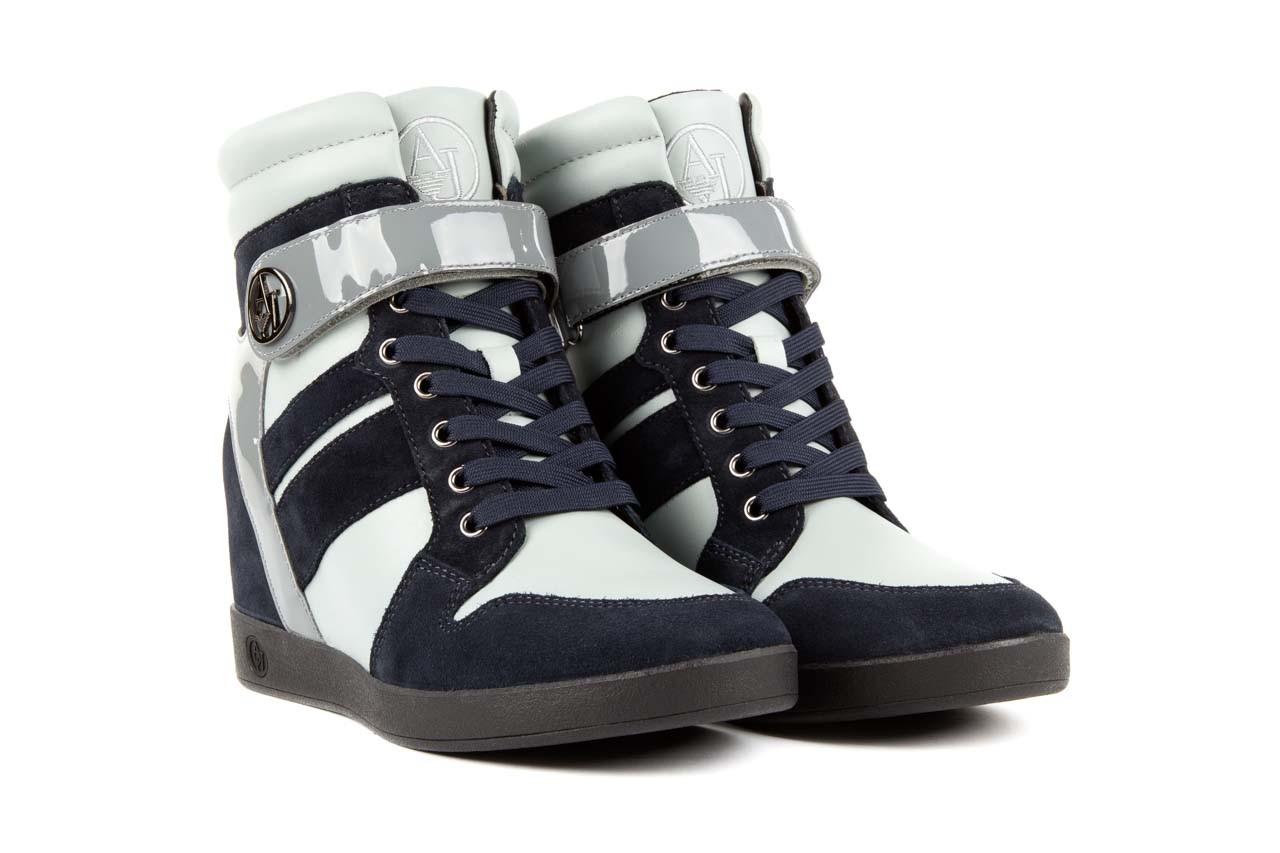 Sneakersy armani jeans b55m1 multicolor, wielokolorowe, skóra naturalna 7