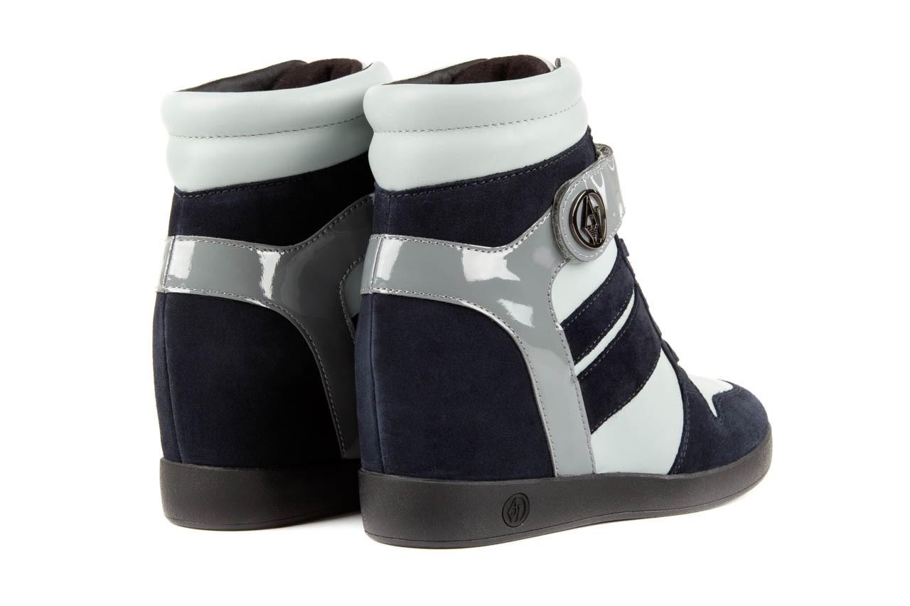 Sneakersy armani jeans b55m1 multicolor, wielokolorowe, skóra naturalna 9