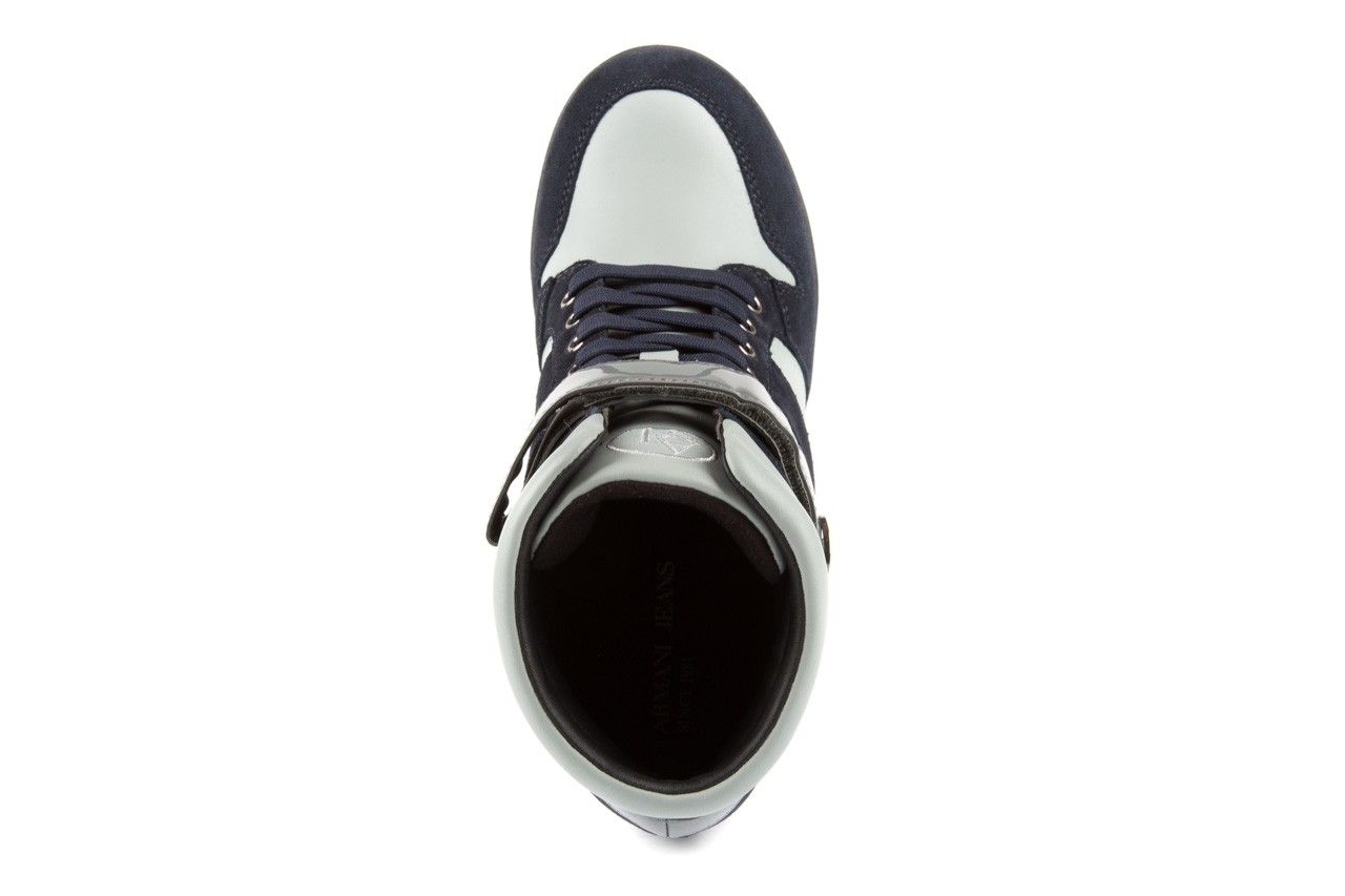 Sneakersy armani jeans b55m1 multicolor, wielokolorowe, skóra naturalna 10