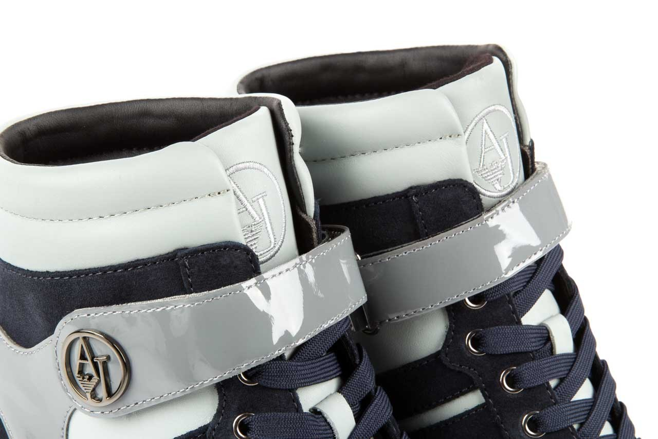 Sneakersy armani jeans b55m1 multicolor, wielokolorowe, skóra naturalna 11
