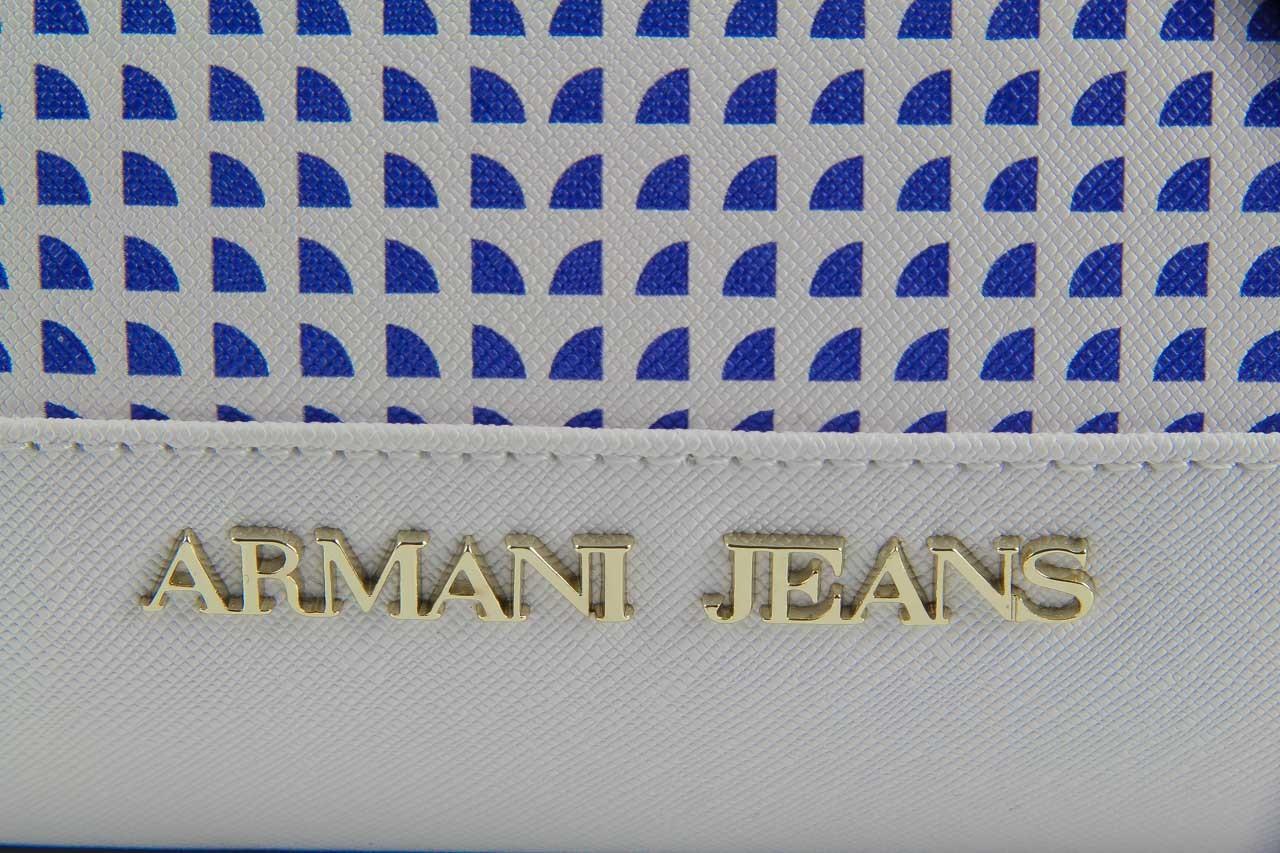 Torebka armani jeans torebka a5283 u7 white, biały, materiał - armani jeans - nasze marki 12