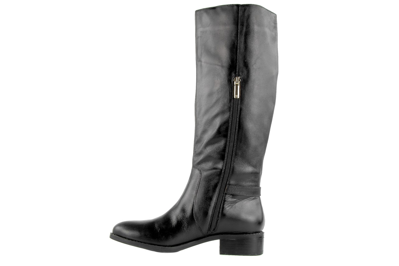 Kozaki armani jeans z5546 41 nero, czarny, skóra naturalna - kozaki - dla niej  - sale 8