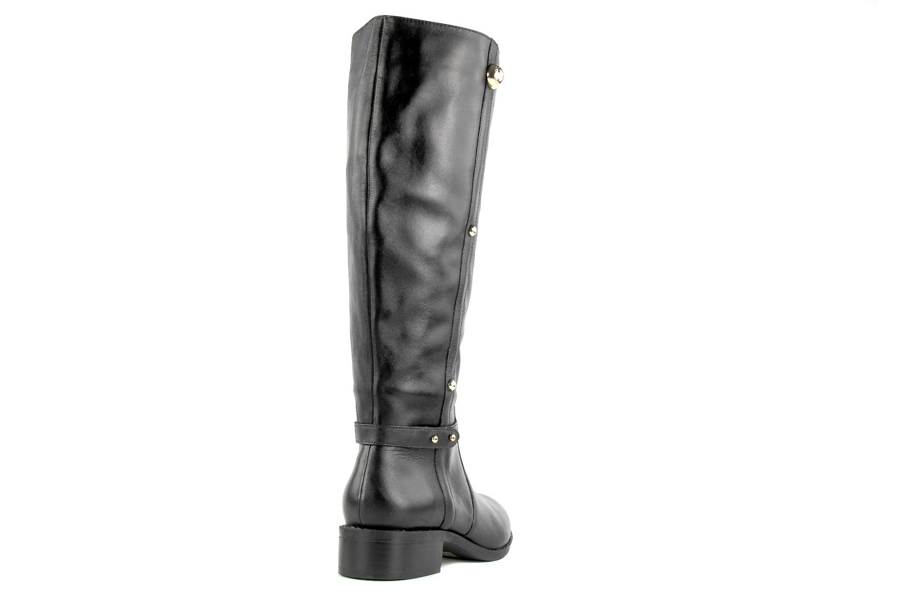 Kozaki armani jeans z5546 41 nero, czarny, skóra naturalna - kozaki - dla niej  - sale 5