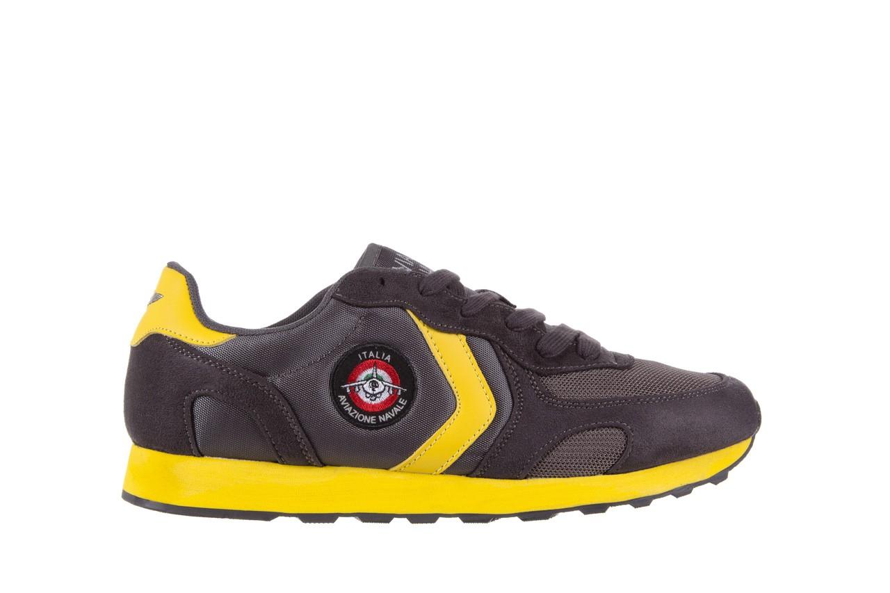 Sneakersy aviazione navale an100 dk. grey, szary, materiał 6