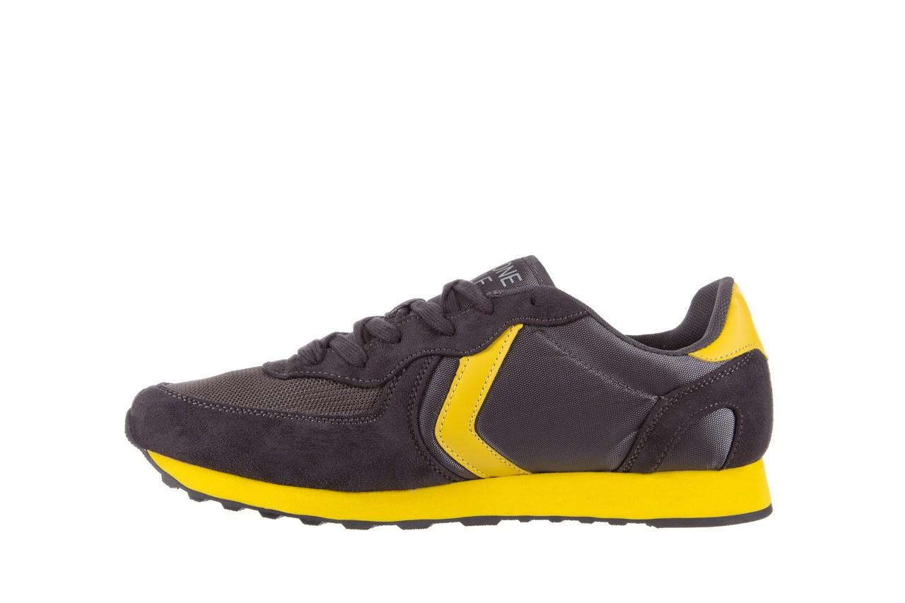 Sneakersy aviazione navale an100 dk. grey, szary, materiał 8