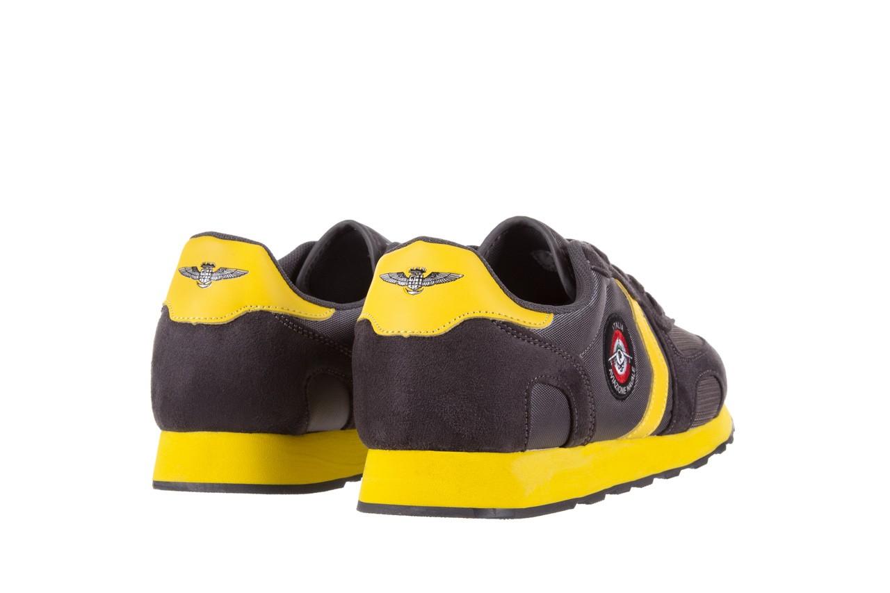 Sneakersy aviazione navale an100 dk. grey, szary, materiał 9