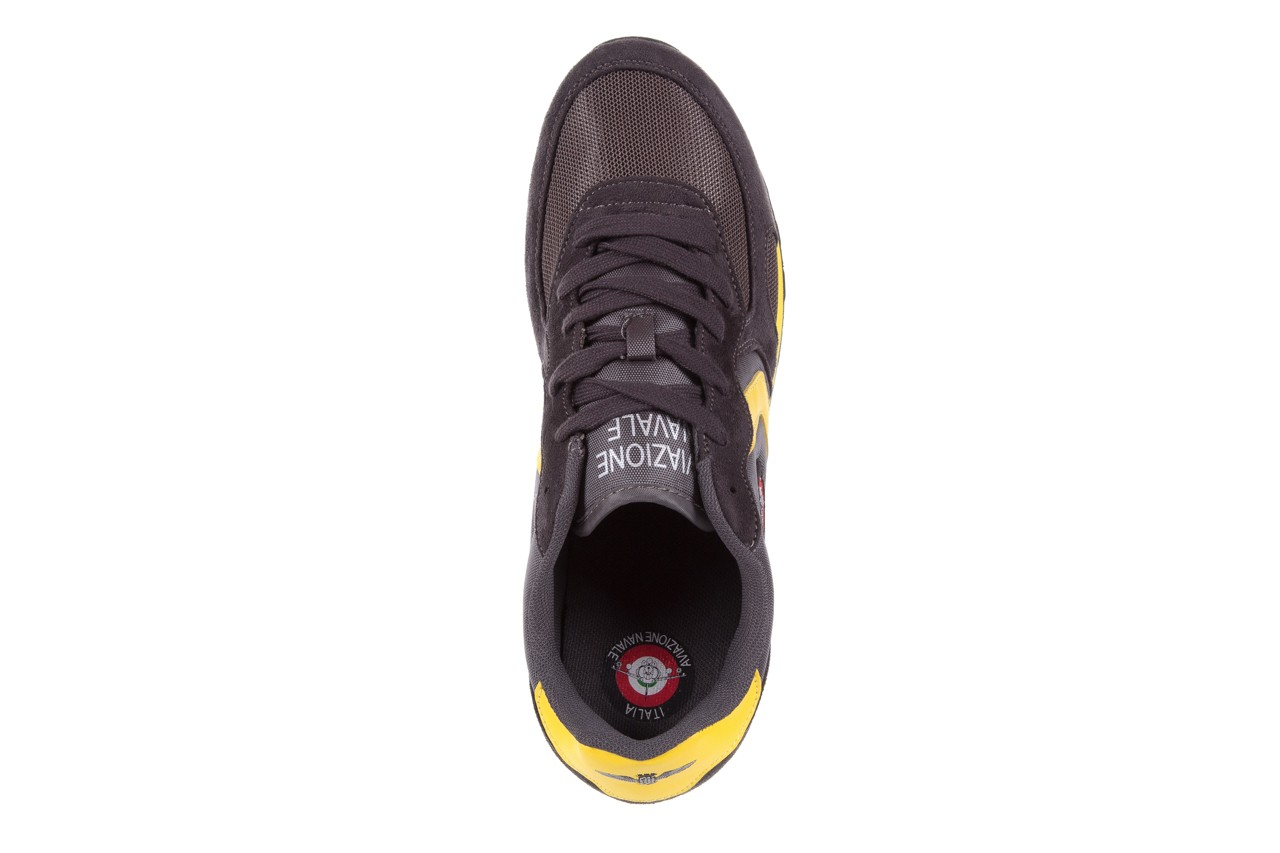 Sneakersy aviazione navale an100 dk. grey, szary, materiał 10