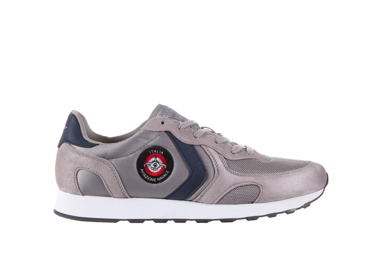 Sneakersy aviazione navale an100 grey, szary, materiał - nasze marki 6