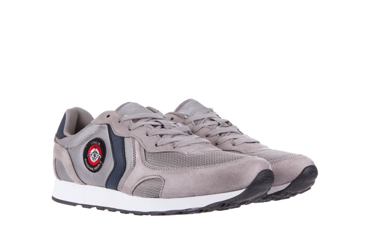 Sneakersy aviazione navale an100 grey, szary, materiał - nasze marki 7