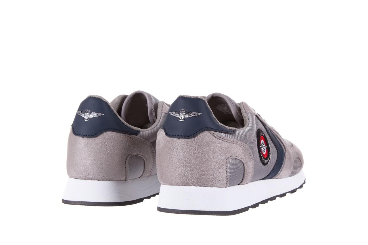 Sneakersy aviazione navale an100 grey, szary, materiał - nasze marki 9