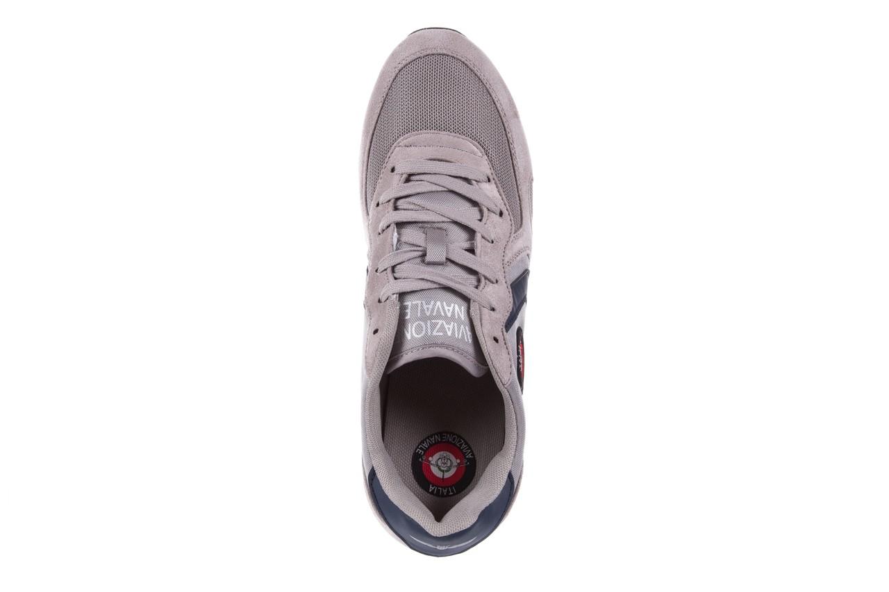 Sneakersy aviazione navale an100 grey, szary, materiał - nasze marki 10