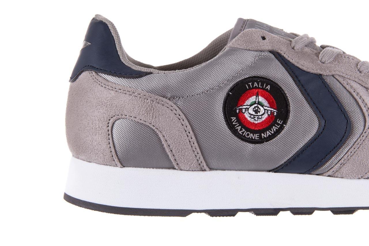 Sneakersy aviazione navale an100 grey, szary, materiał - nasze marki 11