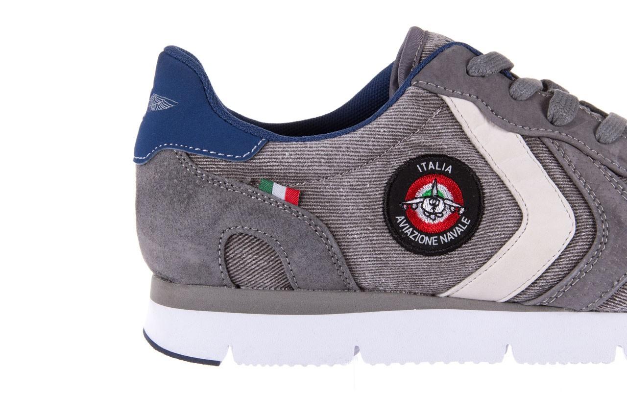 Sneakersy aviazione navale an103 grey, szary, materiał 11