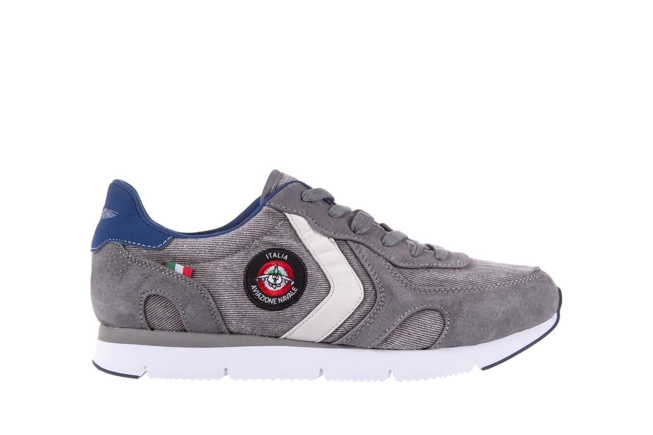 Sneakersy aviazione navale an103 grey, szary, materiał 6