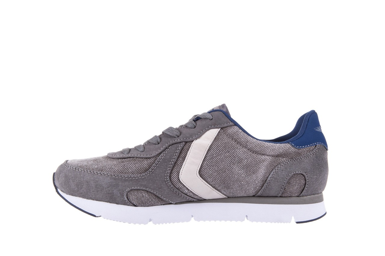 Sneakersy aviazione navale an103 grey, szary, materiał 8