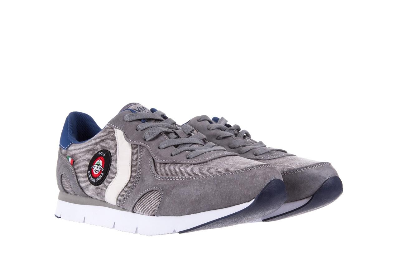 Sneakersy aviazione navale an103 grey, szary, materiał 7