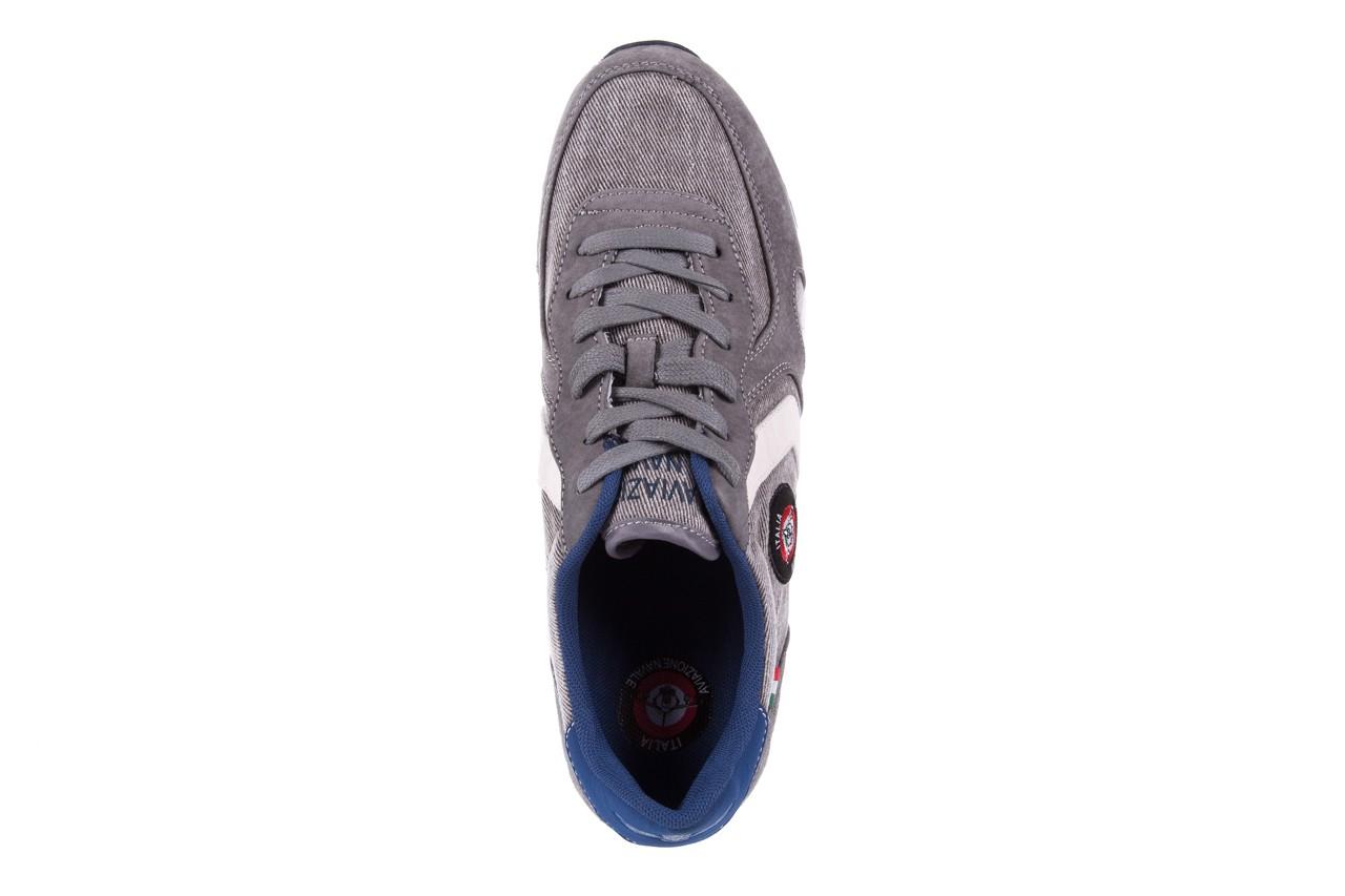 Sneakersy aviazione navale an103 grey, szary, materiał 10