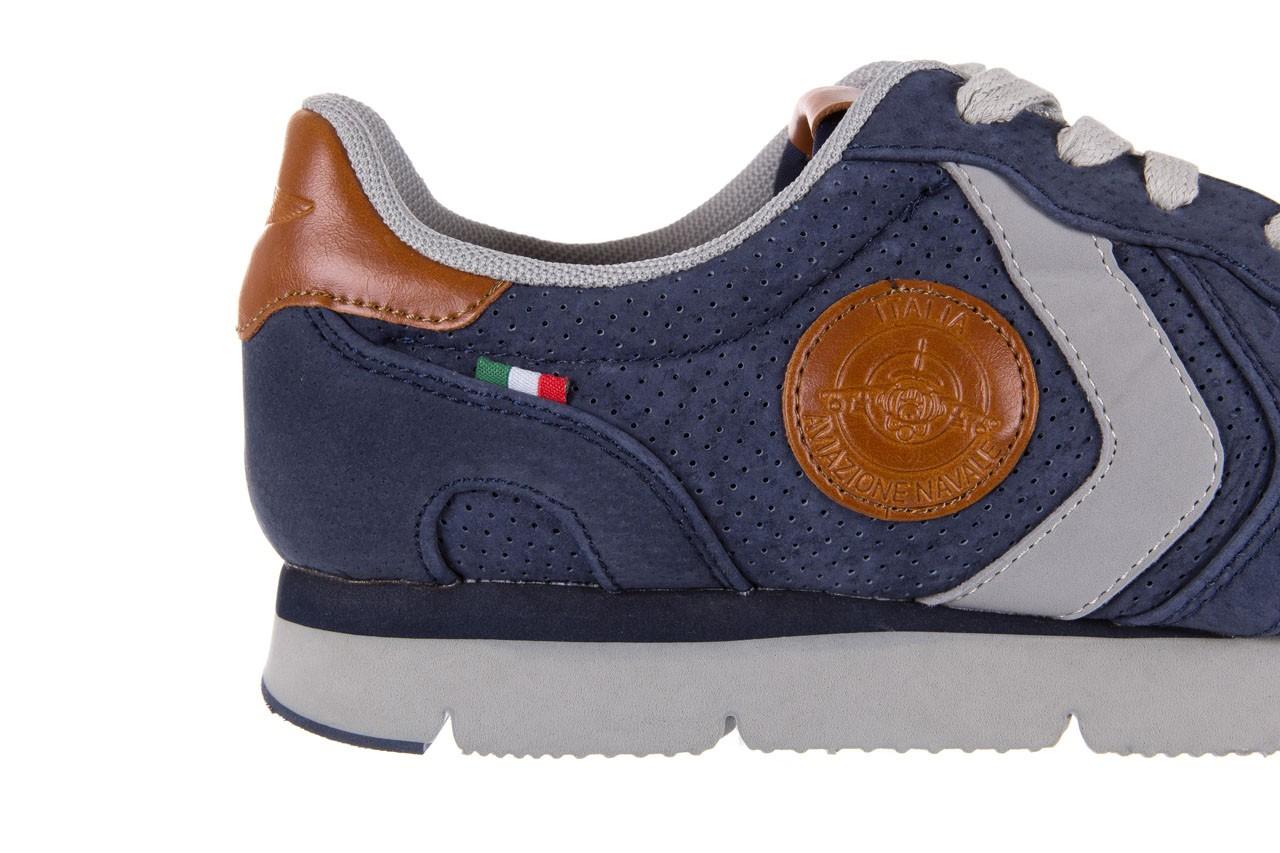 Sneakersy aviazione navale an104 blue, granat, skóra naturalna 11