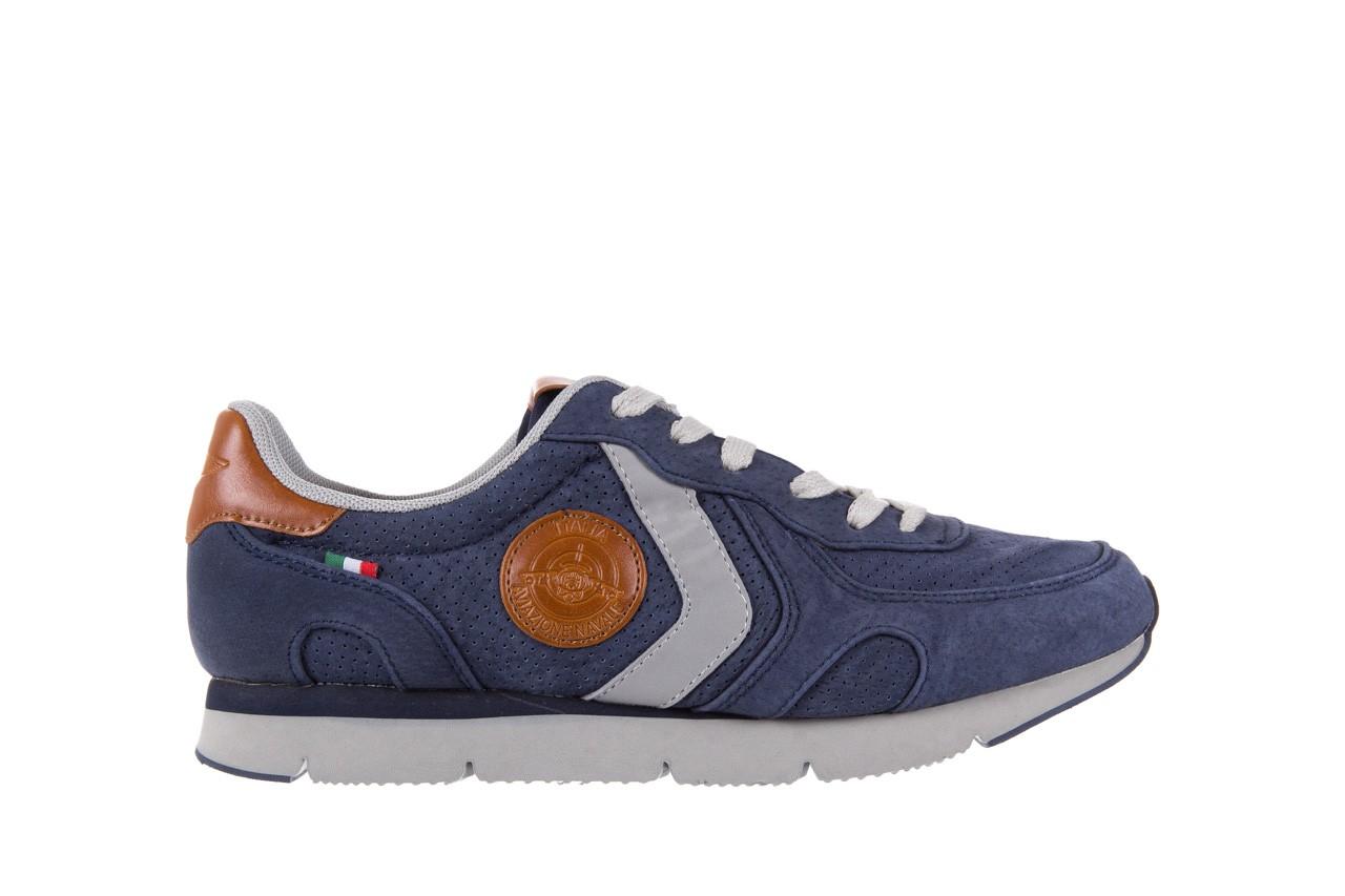 Sneakersy aviazione navale an104 blue, granat, skóra naturalna 6