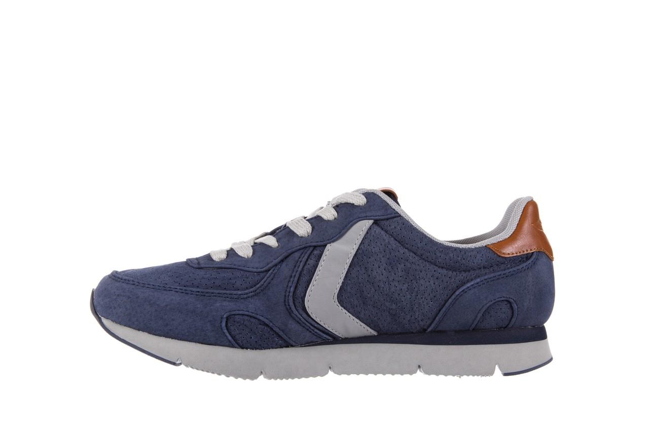 Sneakersy aviazione navale an104 blue, granat, skóra naturalna 8