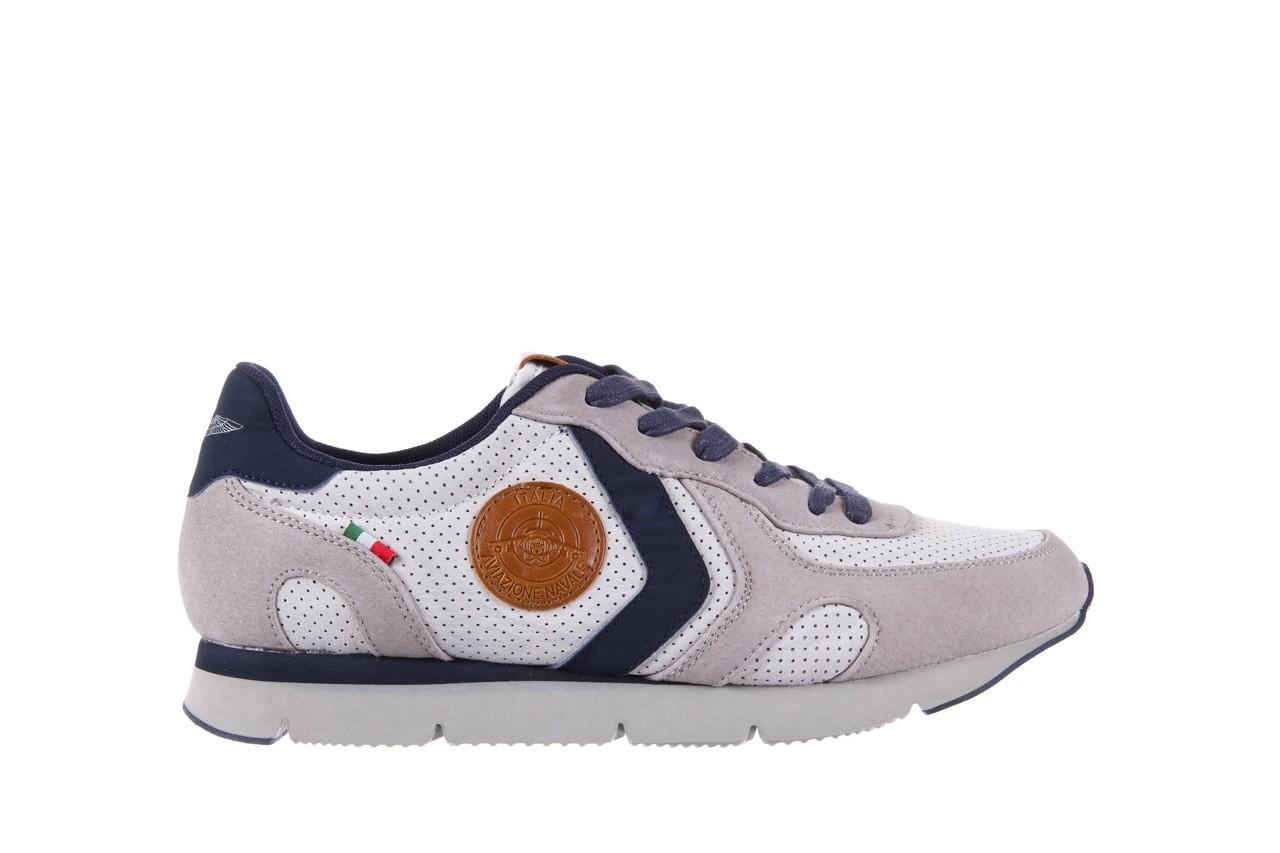 Sneakersy aviazione navale an104 grey, szary/ biały, materiał 6
