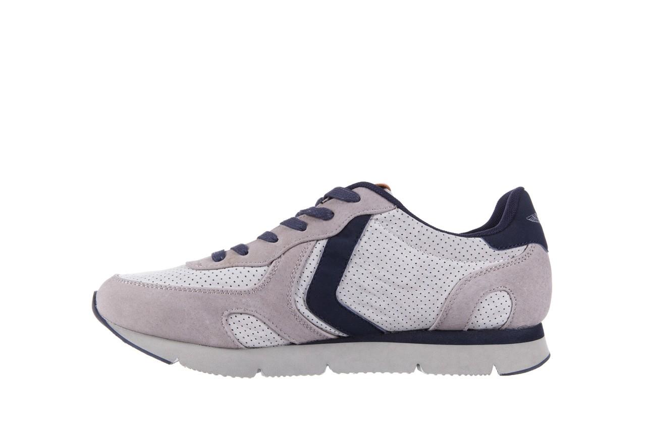 Sneakersy aviazione navale an104 grey, szary/ biały, materiał 8