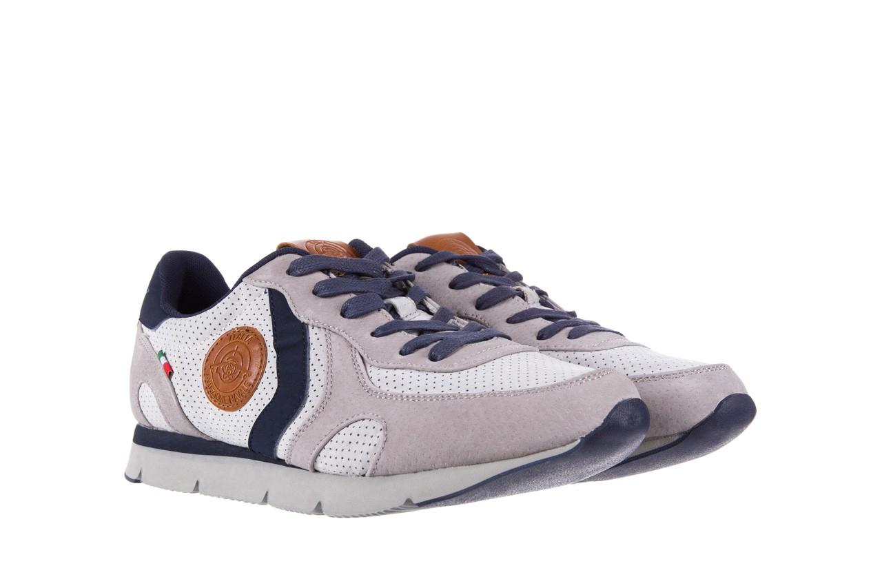 Sneakersy aviazione navale an104 grey, szary/ biały, materiał 7