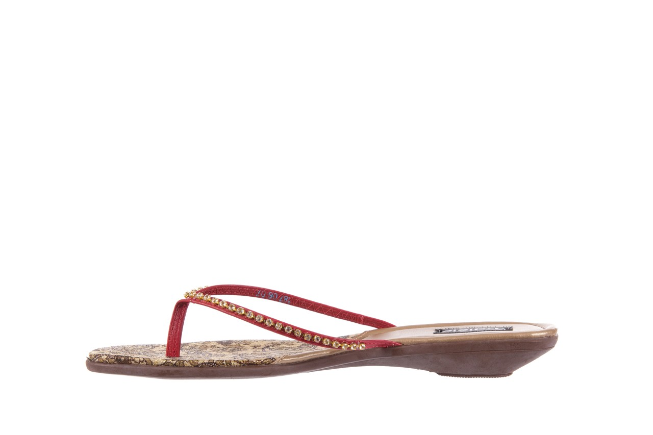 Klapki azaleia 121-az100 red, czerwony, skóra ekologiczna  - azaleia - nasze marki 8