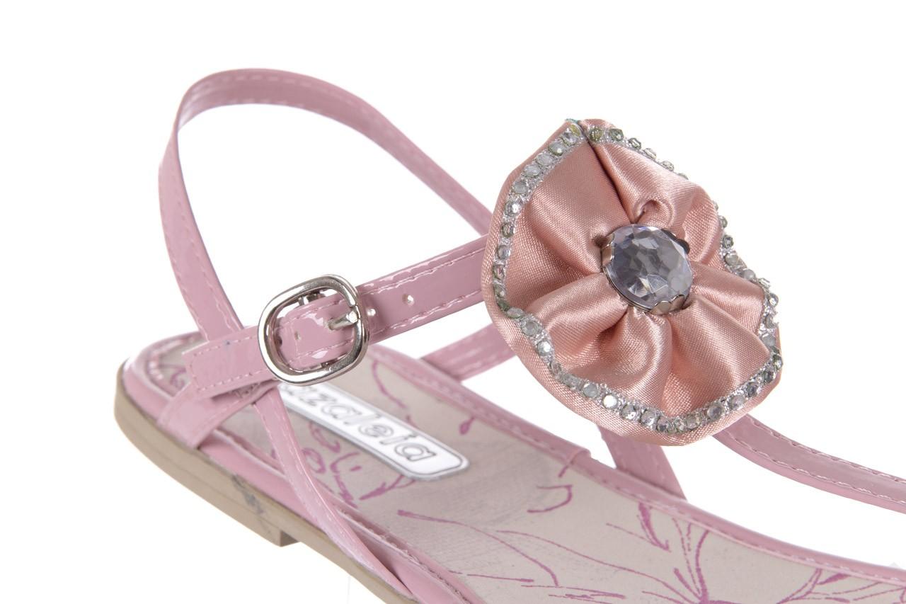 Sandały azaleia 130 132 patent pink, róż, guma - japonki - sandały - buty damskie - kobieta 11