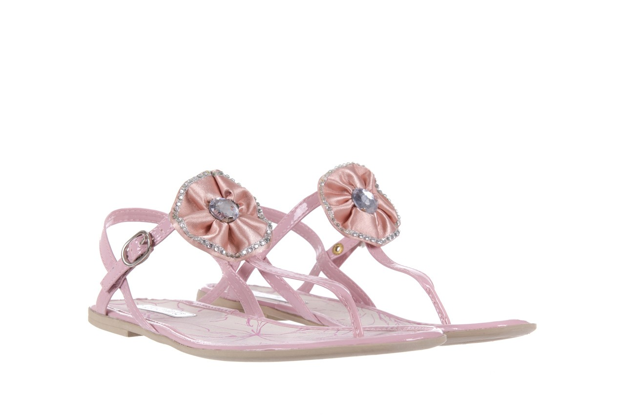 Sandały azaleia 130 132 patent pink, róż, guma - japonki - sandały - buty damskie - kobieta 7