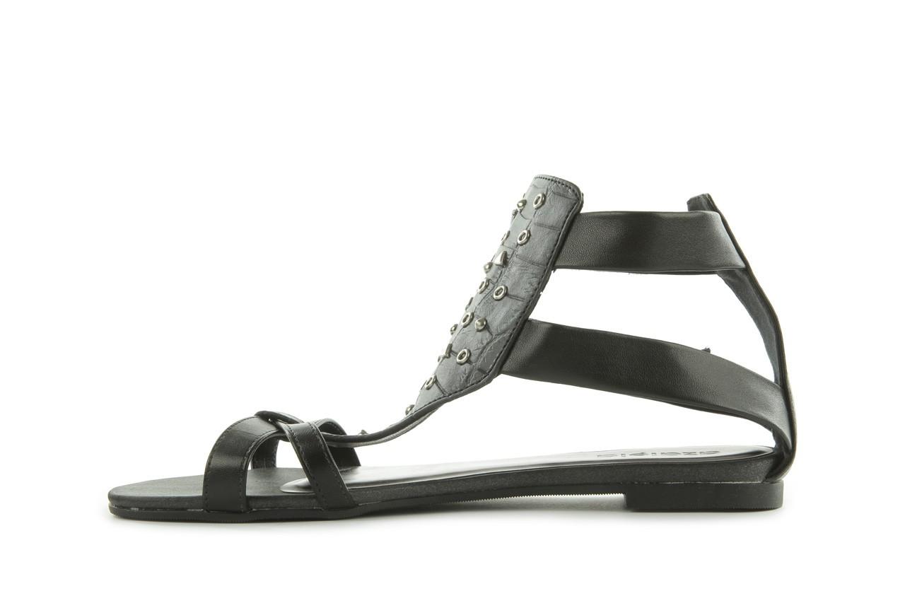 Sandały azaleia 135-az130 black, czarny, skóra ekologiczna  - azaleia - nasze marki 8
