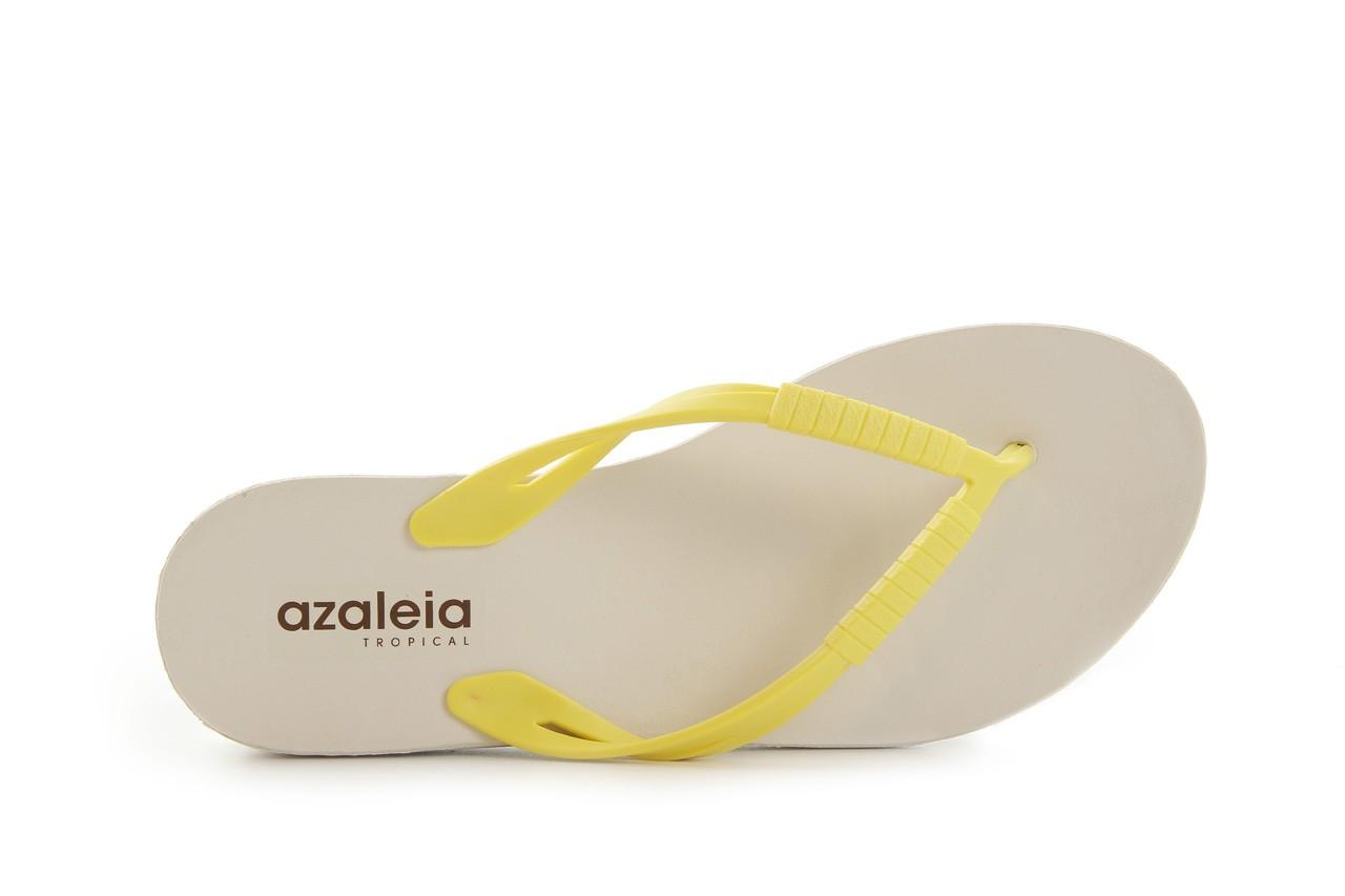 Klapki azaleia 229 335 lime, żółty, guma 9