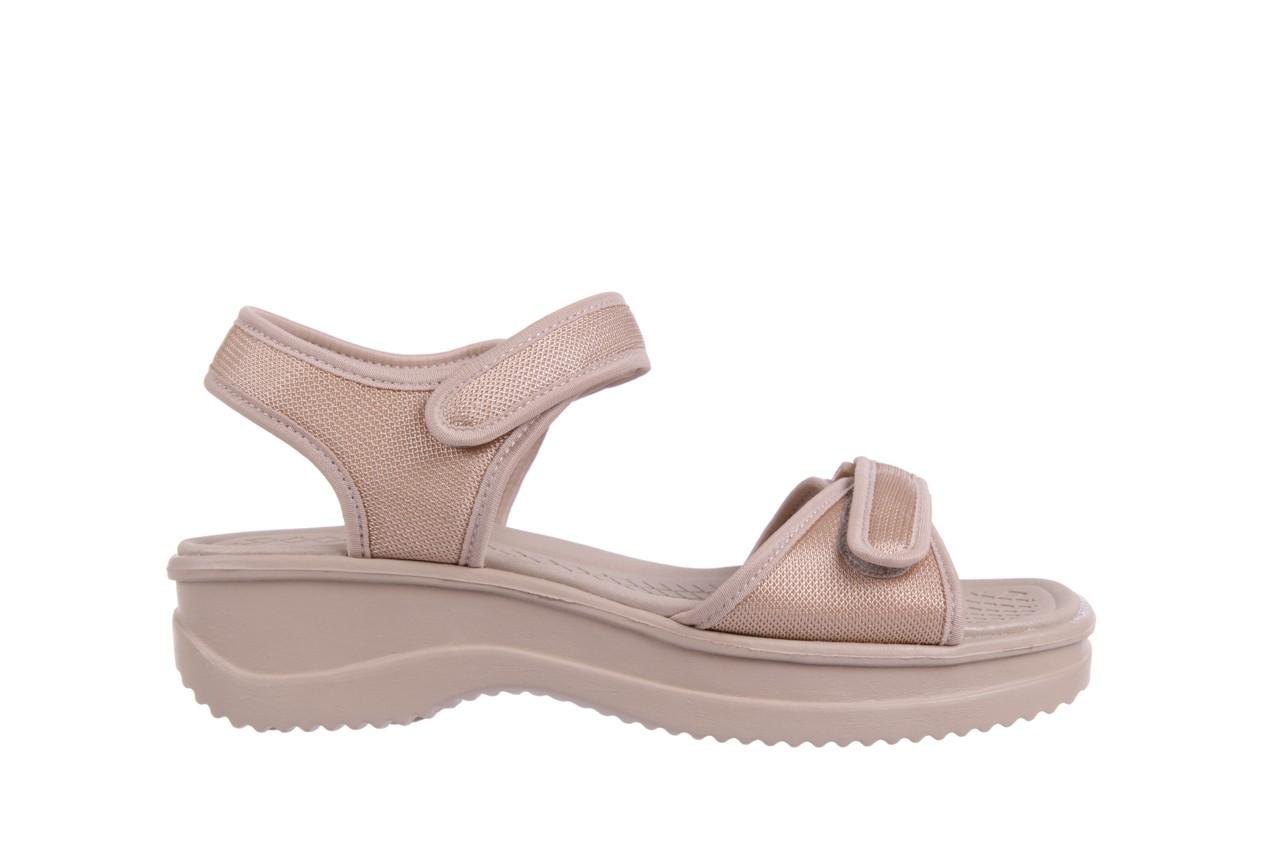 Sandały azaleia 320 321 beige 18, beż, materiał - obuwie sportowe - buty damskie - kobieta 6