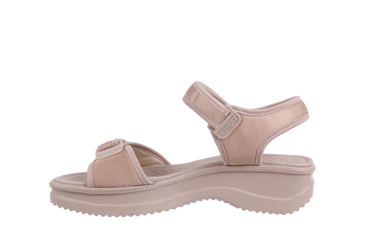 Sandały azaleia 320 321 beige 18, beż, materiał - obuwie sportowe - buty damskie - kobieta 8