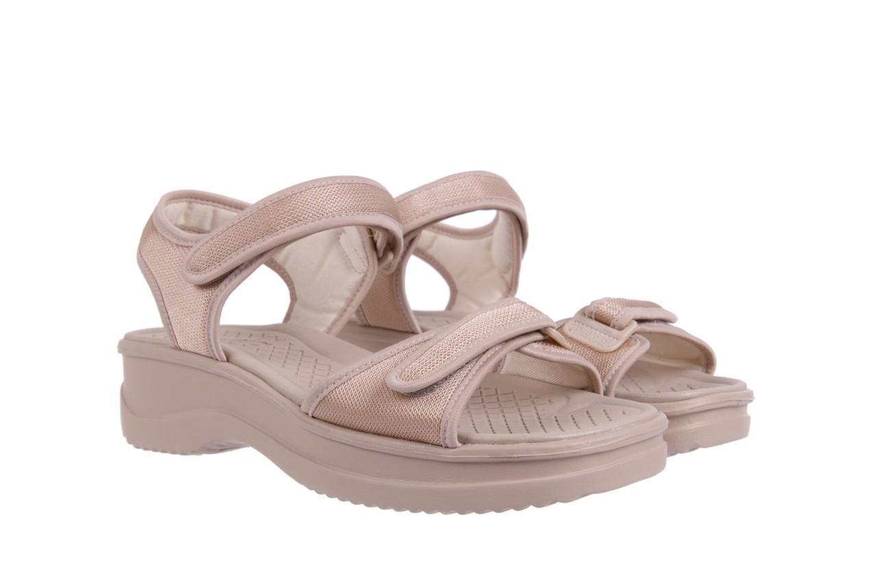 Sandały azaleia 320 321 beige 18, beż, materiał - obuwie sportowe - buty damskie - kobieta 7