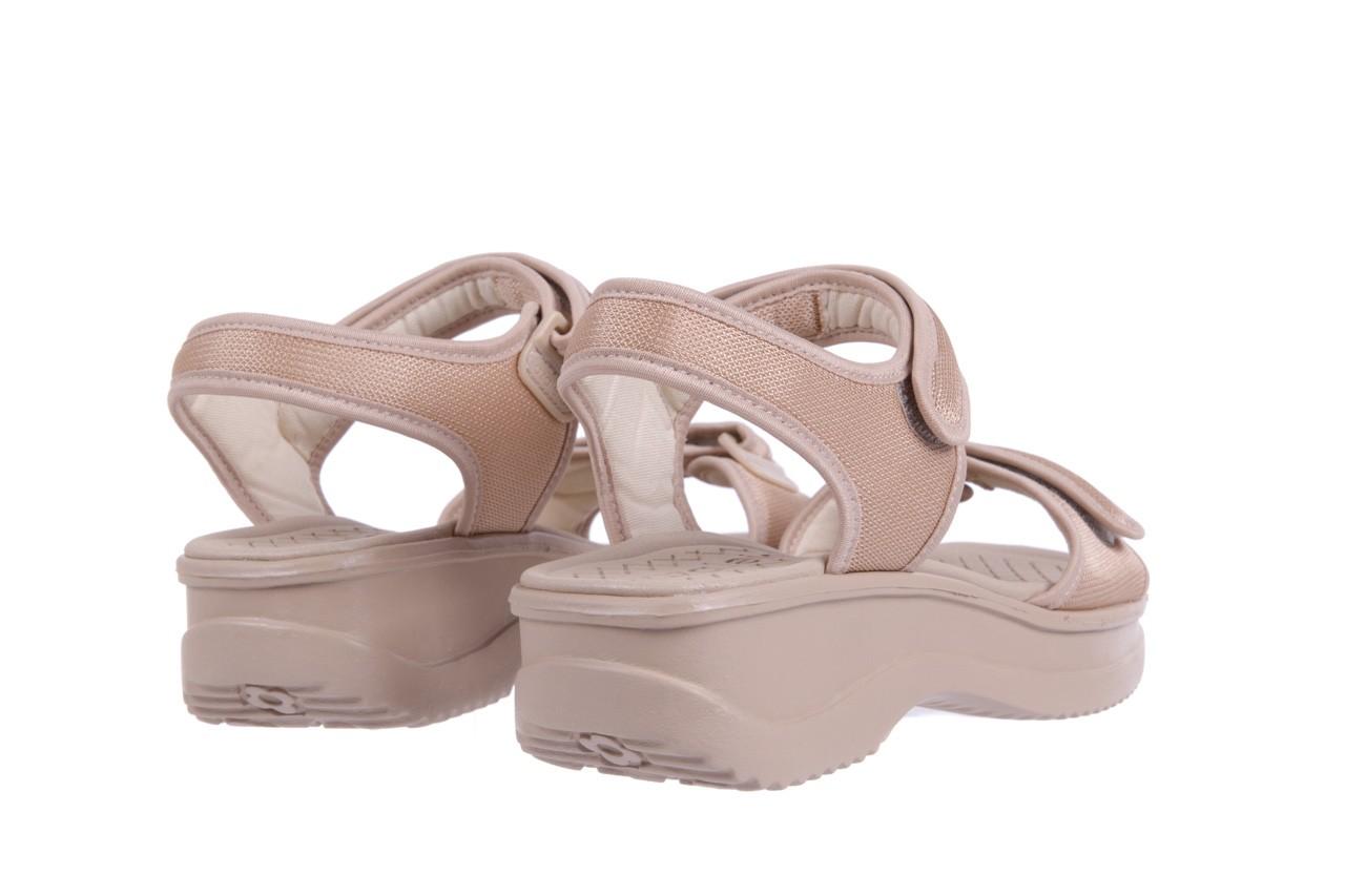 Sandały azaleia 320 321 beige 18, beż, materiał - obuwie sportowe - buty damskie - kobieta 9
