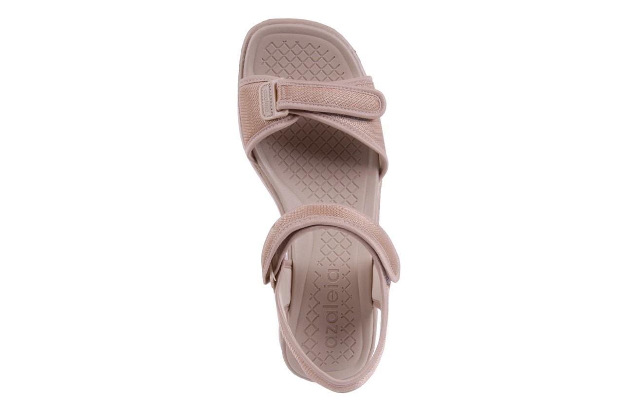 Sandały azaleia 320 321 beige 18, beż, materiał - obuwie sportowe - buty damskie - kobieta 10